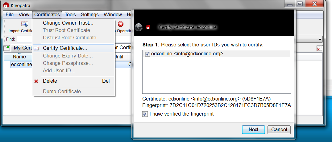 Explanation: How to certify certificate