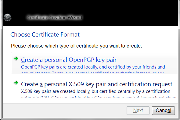Explanation: How to make a new certificate